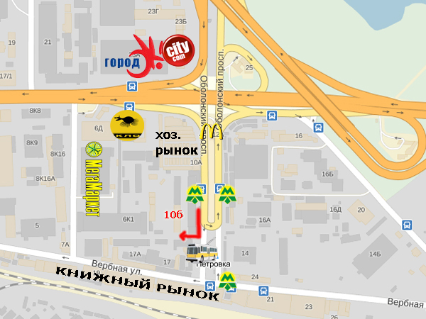 """Карта проезда - магазин """"У Ангела"""""""